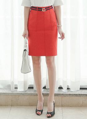 stitch pocket coating Skirt (BeltSET)
