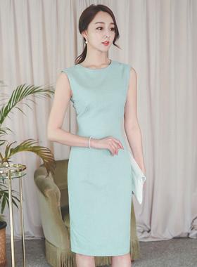 minimal Linen Hline Dress