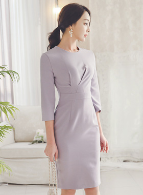 Violet Finch Shirring Dress