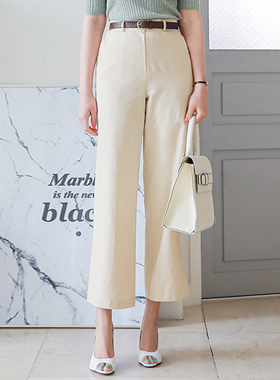 Formal high waist Linen Wide Pants