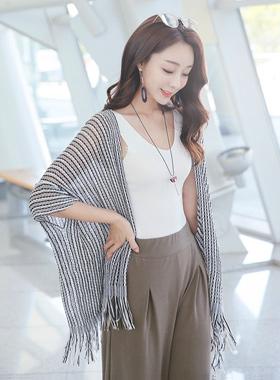 Princh mix net shawl cardigan