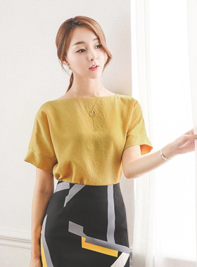 Boat incision lines Blouse