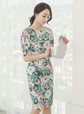 Prejia Volume Cotton span Dress