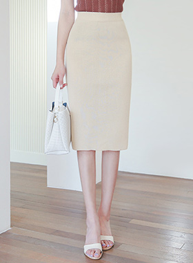 Cooling Basic Mid Knit Skirt