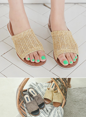 Rattan, Banding Sandals
