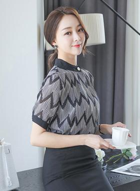 Modern zigzag fold neck Blouse