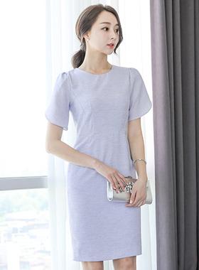 Linen Texture Slab Dress