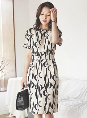 Crescent Touch Linen Dress