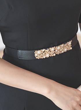 Armand pearl Gold Bending Belt