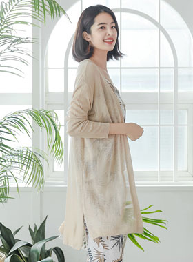 Ice See-through look Open Long cardigan