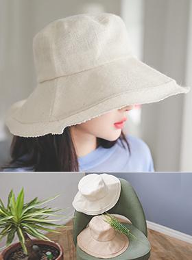 Plain Linen bucket hat