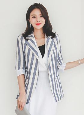 Formal Linen Stripe Jacket
