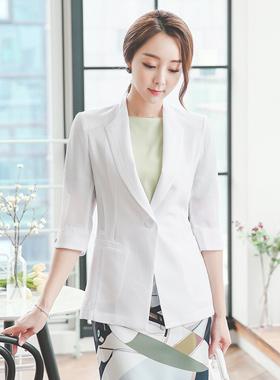 See-through look single Jacket