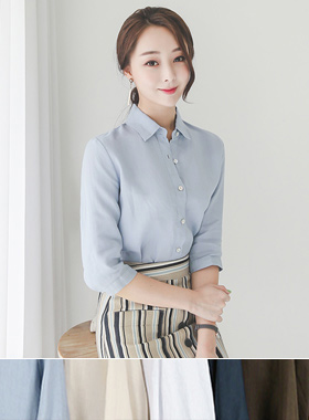 Basic 7 sleeve Linen Shirt