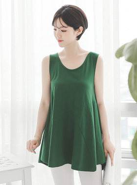 Incision Gather Sleeveless Flare Top