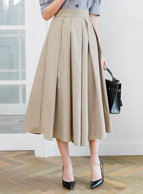 unique pin tuck Flare Skirt Pants