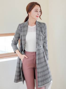 Belted Long Jacket from London O Ring