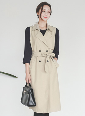 Coco double Trench Long Vest
