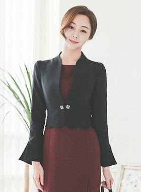 Wave Cutting Square No collar Jacket