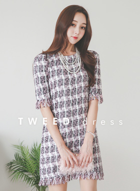 Mary Tweed Surgical Round Dress