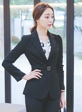 Karen Gold Square Belted Jacket