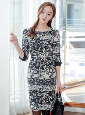 Ethnic Patterns Square Neck color combination Dress