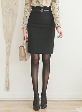 Wave Gold Ring Belt Skirt II