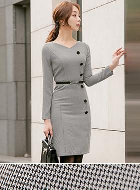 Hound Button key point Belt Dress