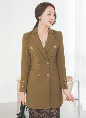 Chester Gold Button Taylor Half Jacket