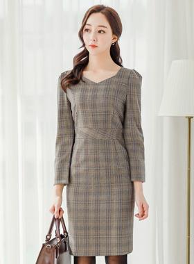 Diamond Mono French Check Dress