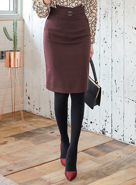 Precent Imd Buckle Hline Midi Skirt