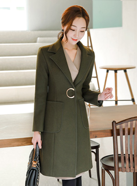 Piping Line Patch Pocket Taylor Long Coat II
