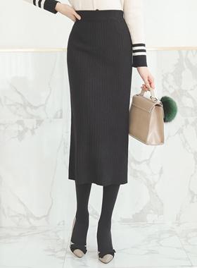 Corrugated Knit Skirt