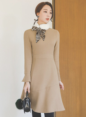 pearl cuff incision Flare Dress
