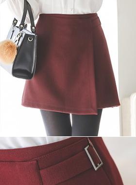 Side buckle unlined lap Skirt (pants lining)