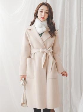 Real handmade Soft Wool Long coat
