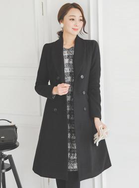 Shawl double line Slim Long coat