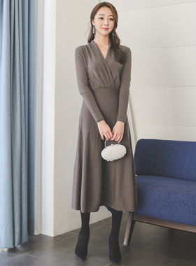 Gracia Shawl Knit Flare Dress