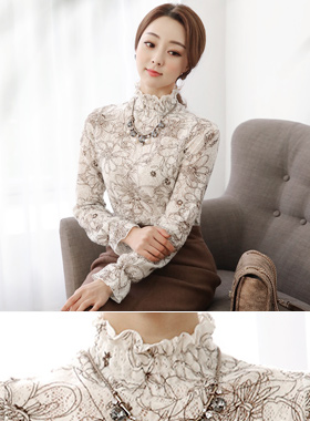 Drawing Flower smokin napping blouse top