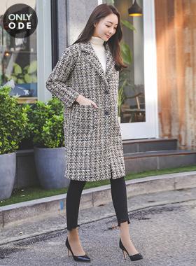 Bling Shine Pearl Tweed Double Coat