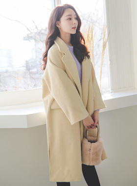 Handmade loose fit wool wool coat