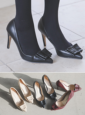 Classic bowknot stiletto heel
