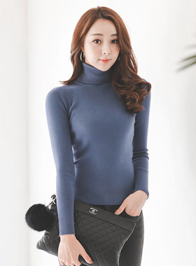 Basic Soft Slim Turtleneck Knit