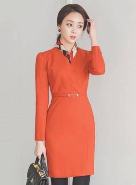 Modern Cutting V-neck Dress Ⅱ