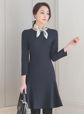 Slit Pearl Cutting-line Mermaid Dress