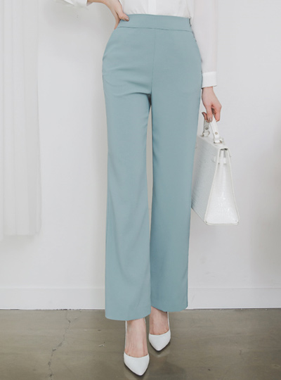 Formal High Back-Zipper Wide Slacks