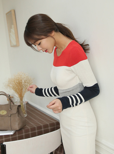It speculated Stripe Knit