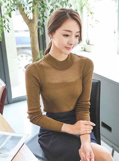 Paula van See-through look Knit (long sleeve)