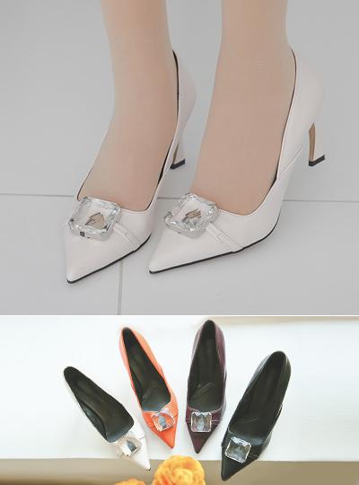 Jewelry stone Slit Stiletto Heel
