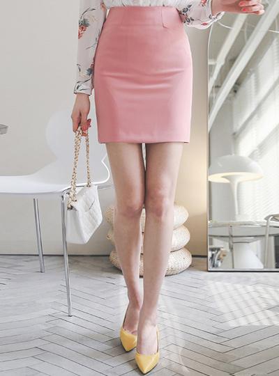 Seam Pocket Span Slim Mini Skirt